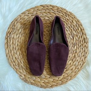 Vince Paz Wine Suede Loafers 5.5